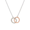 Linked Circle Diamond Necklace