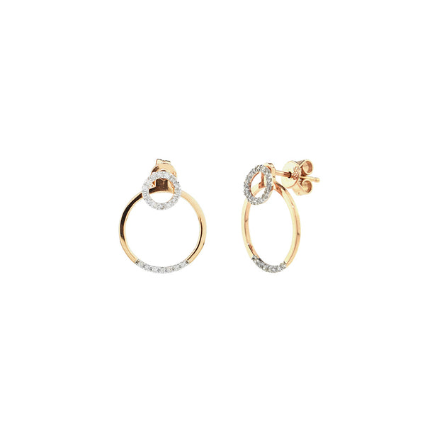 Open Diamond Circle Earrings