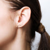 Open Flame Crawler Earrings