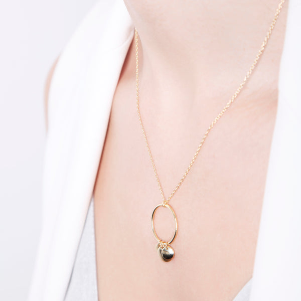 Open Circle Disc Necklace