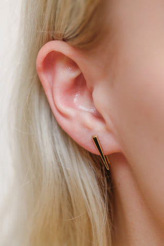 Spike Earrings with Elongated Backs
