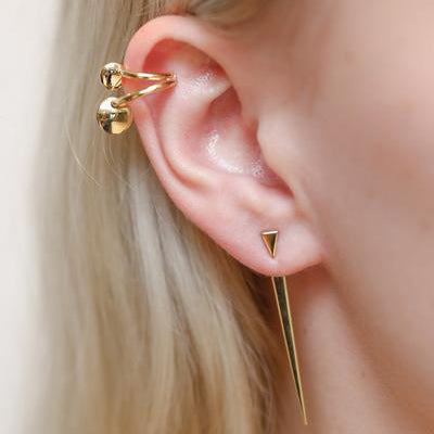 Triangle Stud Spike Earrings