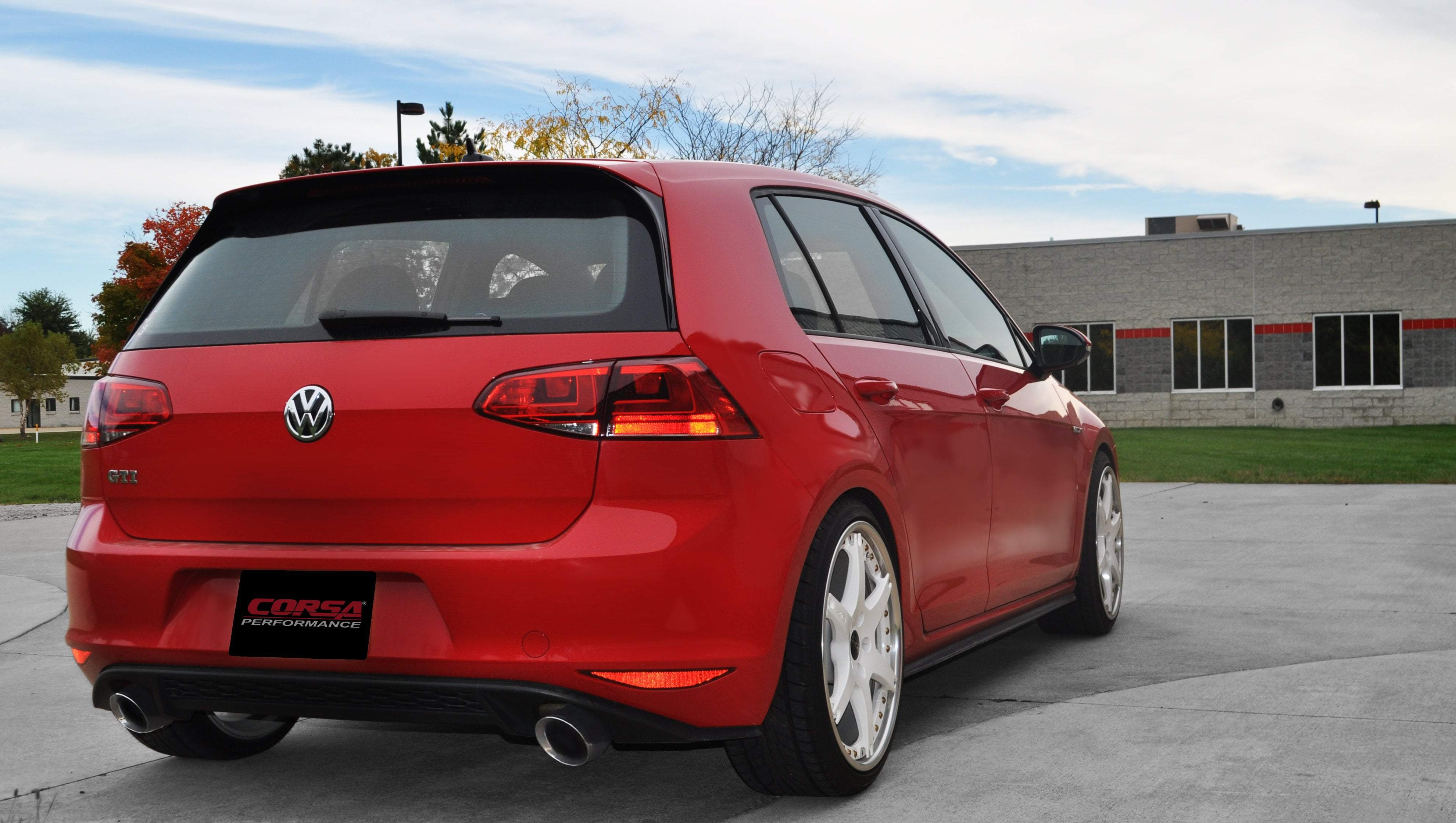 Corsa 14 17 Volkswagen Golf Gti Mk7 2 0l T 3 0 Cat Back Exhaust System With 4 0 Tips 14834 Sport Sound Level