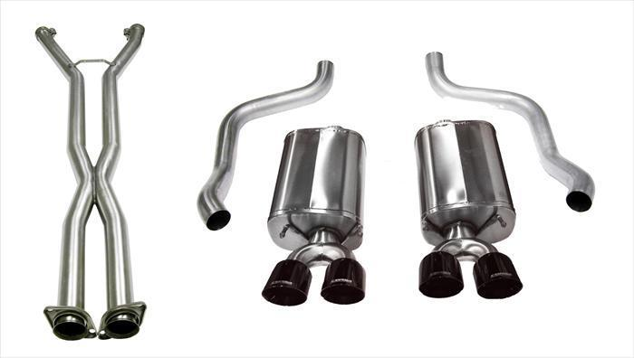"CORSA PERFORMANCE Cat-Back Exhaust Polished / Sport / Dual Rear - Twin 3.5in 2009-2013 C6 Chevrolet Corvette 6.2L V8 2.5"" Dual Rear Exit Cat-Back Exhaust System with Twin 3.5"" Tips (14108CB) Sport Sound Level"