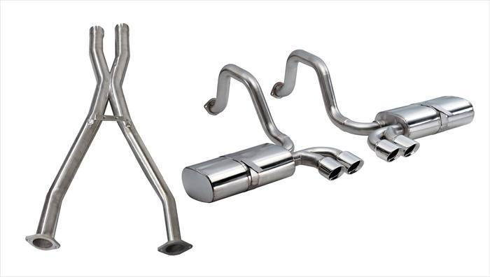 "CORSA PERFORMANCE Cat-Back Exhaust Polished / Sport / Dual Rear - Twin 3.5in 1997-2004 Chevrolet Corvette C5/C5 Z06 2.5"" Dual Rear Exit Cat Back Exhaust System with Twin 3.5"" Tips (14111CB) Sport Sound Level"