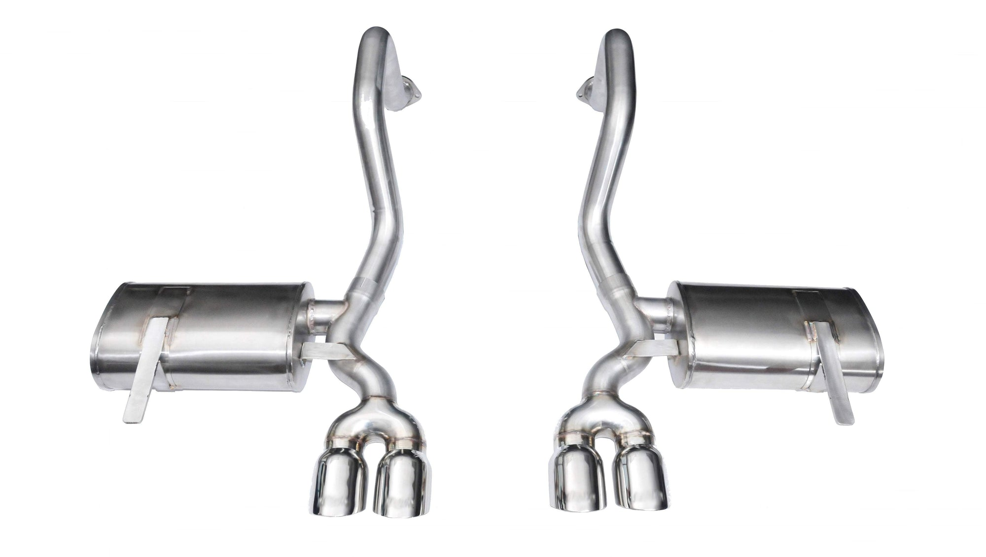 "CORSA PERFORMANCE Axle-Back Exhaust Polished / Xtreme / Dual Rear - Twin 3.5in 1997-2004 Chevrolet Corvette C5/ C5 Z06 5.7L V8, 2.5"" Axle-Back Exhaust System with Twin 3.5"" Tips (14132) Xtreme Sound Level"