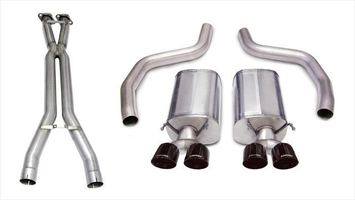 "CORSA PERFORMANCE Cat-Back Exhaust Polished / Sport / Dual Rear - Twin 4.0in 2006-2011 C6 Chevrolet Corvette Z06, ZR1, 3.0"" Dual Rear Exit Cat Back Exhaust System with Twin 4.0"" Tips (14164CB1) Sport Sound Level"