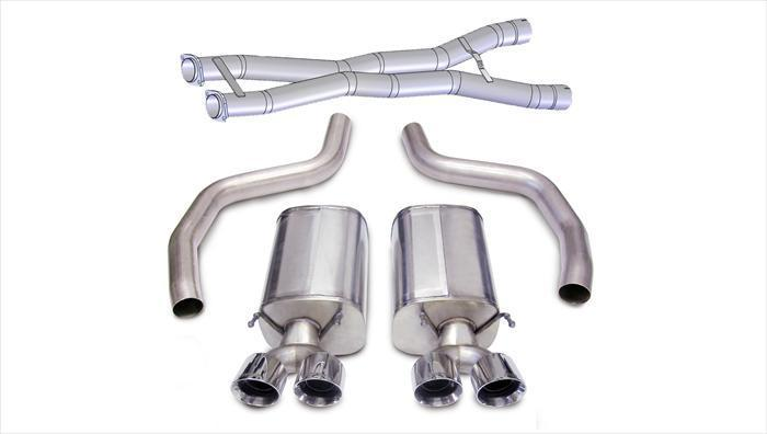"CORSA PERFORMANCE Cat-Back Exhaust Polished / Sport / Dual Rear - Twin 4.0in 2012-2013 C6 Chevrolet Corvette Z06, ZR1, 3.0"" Dual Rear Exit Cat Back Exhaust System with Twin 4.0"" Tips (14164CB3) Sport Sound Level"