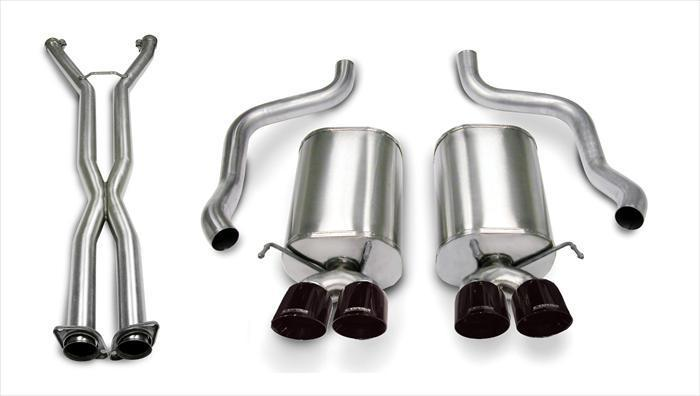 "CORSA PERFORMANCE Cat-Back Exhaust Polished / Sport / Dual Rear - Twin 3.5in 2005-2008 C6 Chevrolet Corvette 6.0L, 6.2L V8 2.5"" Dual Rear Exit Cat-Back Exhaust System with Twin 3.5"" Tips (14169CB4) Sport Sound Level"