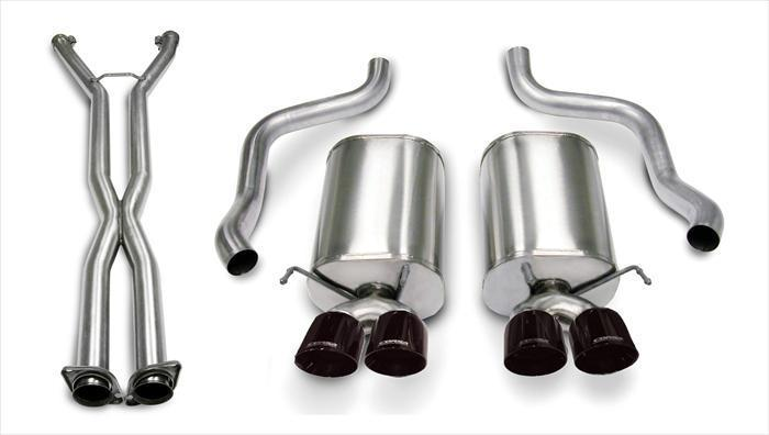 "CORSA PERFORMANCE Cat-Back Exhaust Polished / Sport / Dual Rear - Twin 3.5in 2006-2008 Chevrolet Corvette C6 Automatic 6.0L, 6.2L V8 2.5"" Dual Rear Exit Catback Exhaust System with Twin 3.5"" Tips (14169CB6) Sport Sound Level"