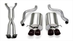 "CORSA PERFORMANCE Cat-Back Exhaust Black / Sport / Dual Rear - Twin 3.5in 2006-2008 Chevrolet Corvette C6 Automatic 6.0L, 6.2L V8 2.5"" Dual Rear Exit Catback Exhaust System with Twin 3.5"" Tips (14169CB6) Sport Sound Level"