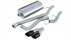 "CORSA PERFORMANCE Cat-Back Exhaust Black / Sport / Single Side - Twin 4in 1999-2006 Chevrolet Silverado, GMC Sierra 4.8L, 5.3L V8, 3.0"" Single Side Exit Catback Exhaust System with Twin 4.0"" Tip (14260) Sport Sound Level"
