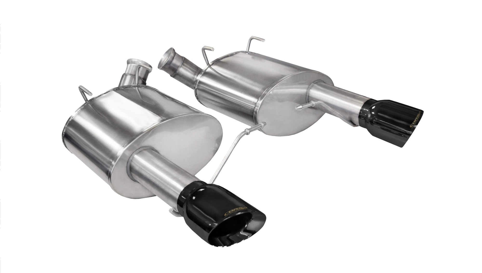 "CORSA PERFORMANCE Axle-Back Exhaust Polished / XTREME / Dual Rear - Single 4.0in 2011-2014 Ford Mustang GT/Boss 302 3.0"" Dual Rear Exit Axle-Back Exhaust System with 4.0"" Tips (14317) Xtreme Sound Level"