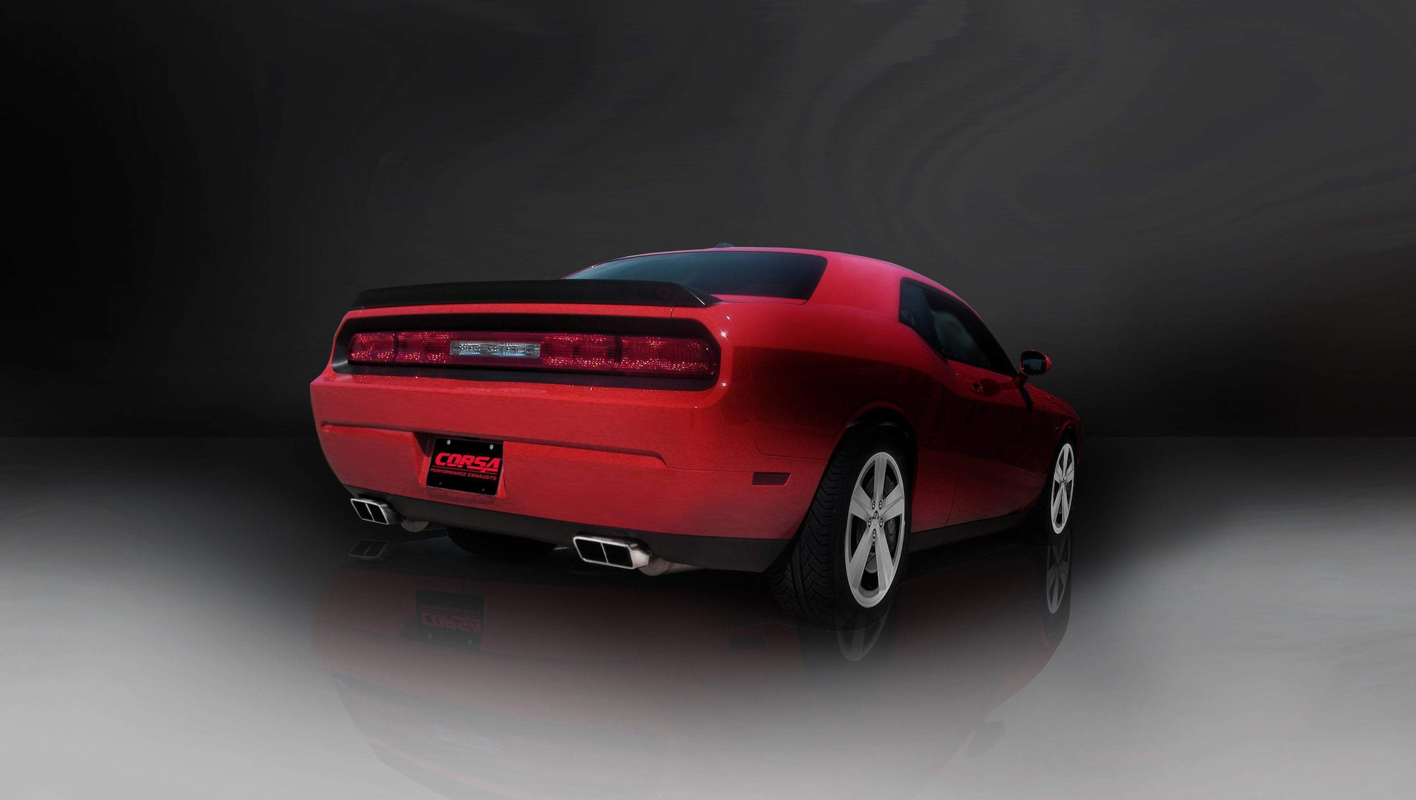 "CORSA PERFORMANCE Cat-Back Exhaust Polished / Xtreme / Dual Rear - GTX 2009-2010 Dodge Challenger R/T 5.7L V8, 2.5"" Dual Rear Exit Cat-Back Exhaust System with GTX Tips (14436) Xtreme Sound Level"