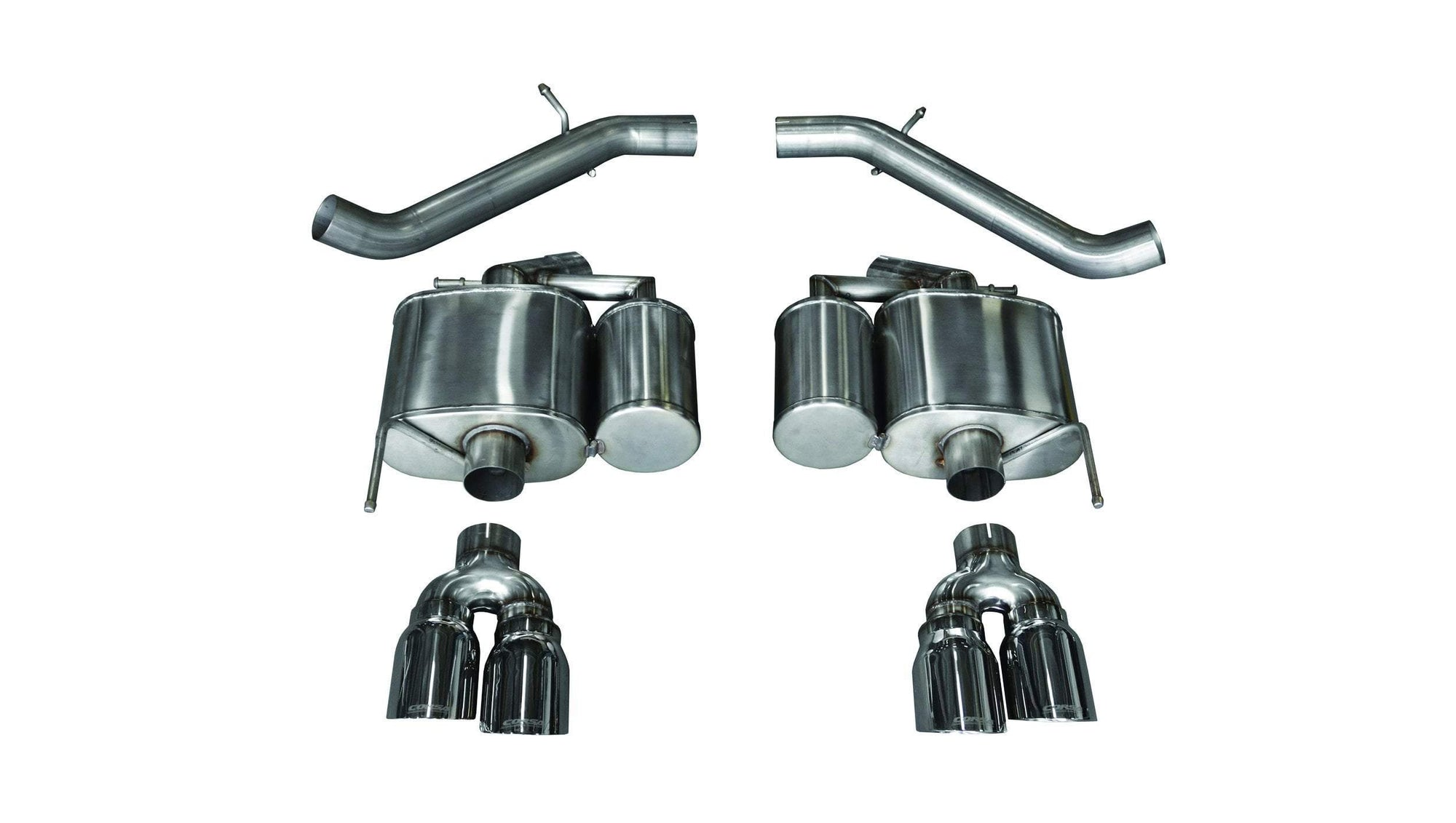 "CORSA PERFORMANCE Axle-Back Exhaust Polished / Sport / Dual Rear - Twin 4.0in 2016-2019 Cadillac ATS-V 3.0"" Dual Rear Exit Axle-Back Exhaust System with Twin 4.0"" Tips (14478) Sport Sound Level"