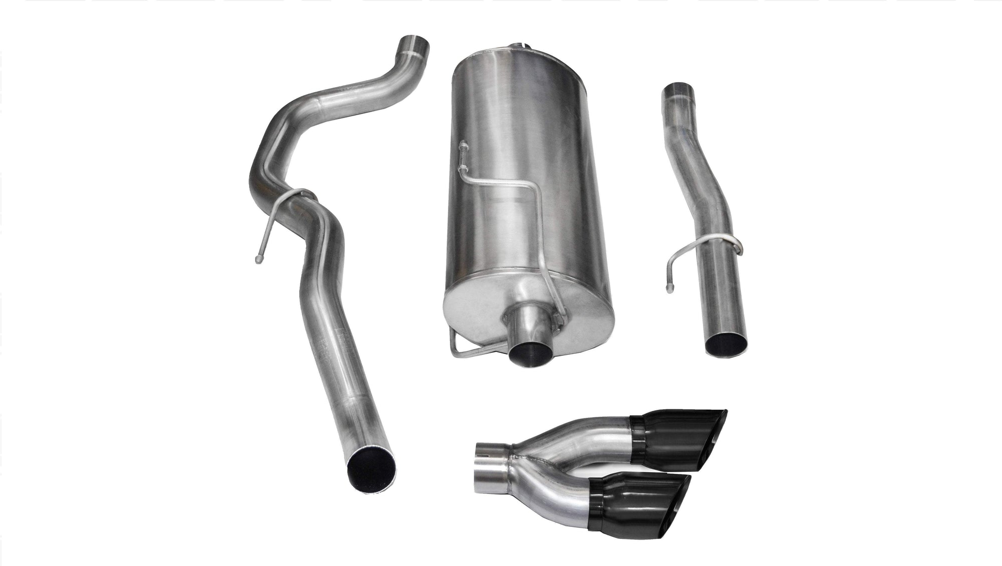 "CORSA PERFORMANCE Cat-Back Exhaust Polished / Sport / Single Side - Twin 4.0in 2010-2013 Dodge RAM 2500 Crew Cab Short Bed 3.0"" Single Side Exit Cat-Back Exhaust System with Twin 4.0"" Tip (14481) Sport Sound Level"