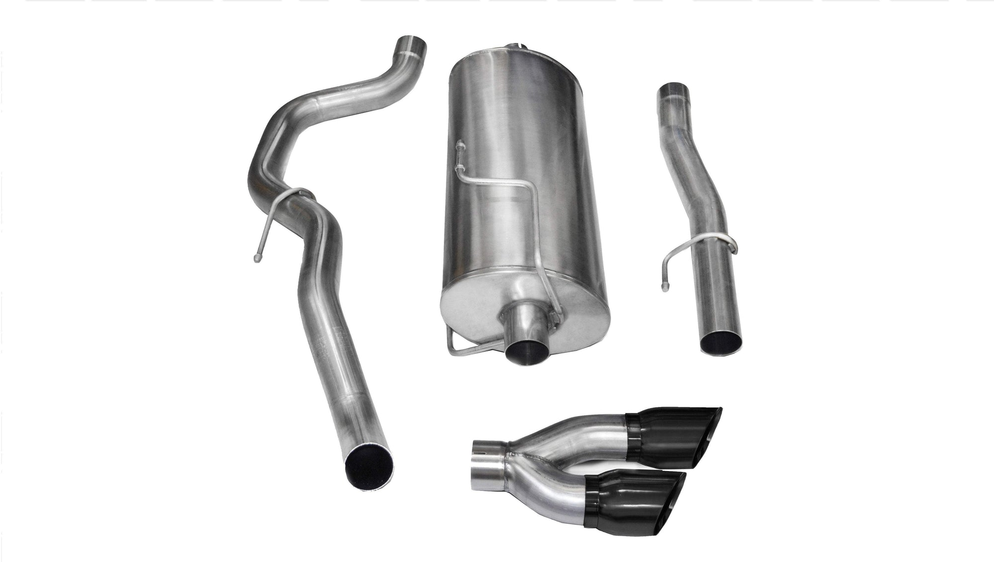 "CORSA PERFORMANCE Cat-Back Exhaust Polished / Sport / Single Side - Twin 4.0in 3.0"" Single Side Exit Cat-Back Exhaust System with Twin 4.0"" Tip (14482) Sport Sound Level"