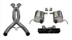 "CORSA PERFORMANCE Valve-Back + X-Pipe Black / Xtreme+ / Dual Rear - Polygon 2014-2019 C7 Chevrolet Corvette 2.75"" Dual Rear Exit Valve-Back + X-Pipe with Polygon Tip (14763CB) Xtreme+ Sound Level"
