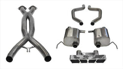 "CORSA PERFORMANCE Cat-Back Exhaust Polished / Xtreme+ / Dual Rear - Polygon 2015-2019 C7 Z06 Chevrolet Corvette 2.75"" Dual Rear Exit Catback Exhaust System with Polygon Tip (14767CB) Xtreme+ Sound Level"
