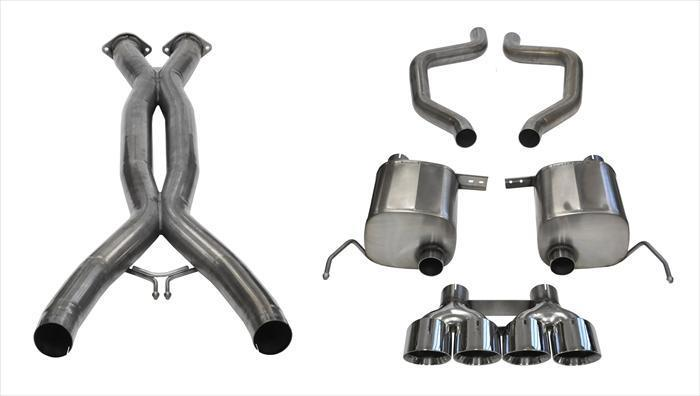 "CORSA PERFORMANCE Cat-Back Exhaust Polished / Xtreme / Dual Rear - Quad 4.5in 2015-2019 Chevrolet Corvette C7 Z06, ZR1, 2.75"" Dual Rear Exit Catback Exhaust System with Quad 4.5"" Tips (14768CB) Xtreme Sound Level"