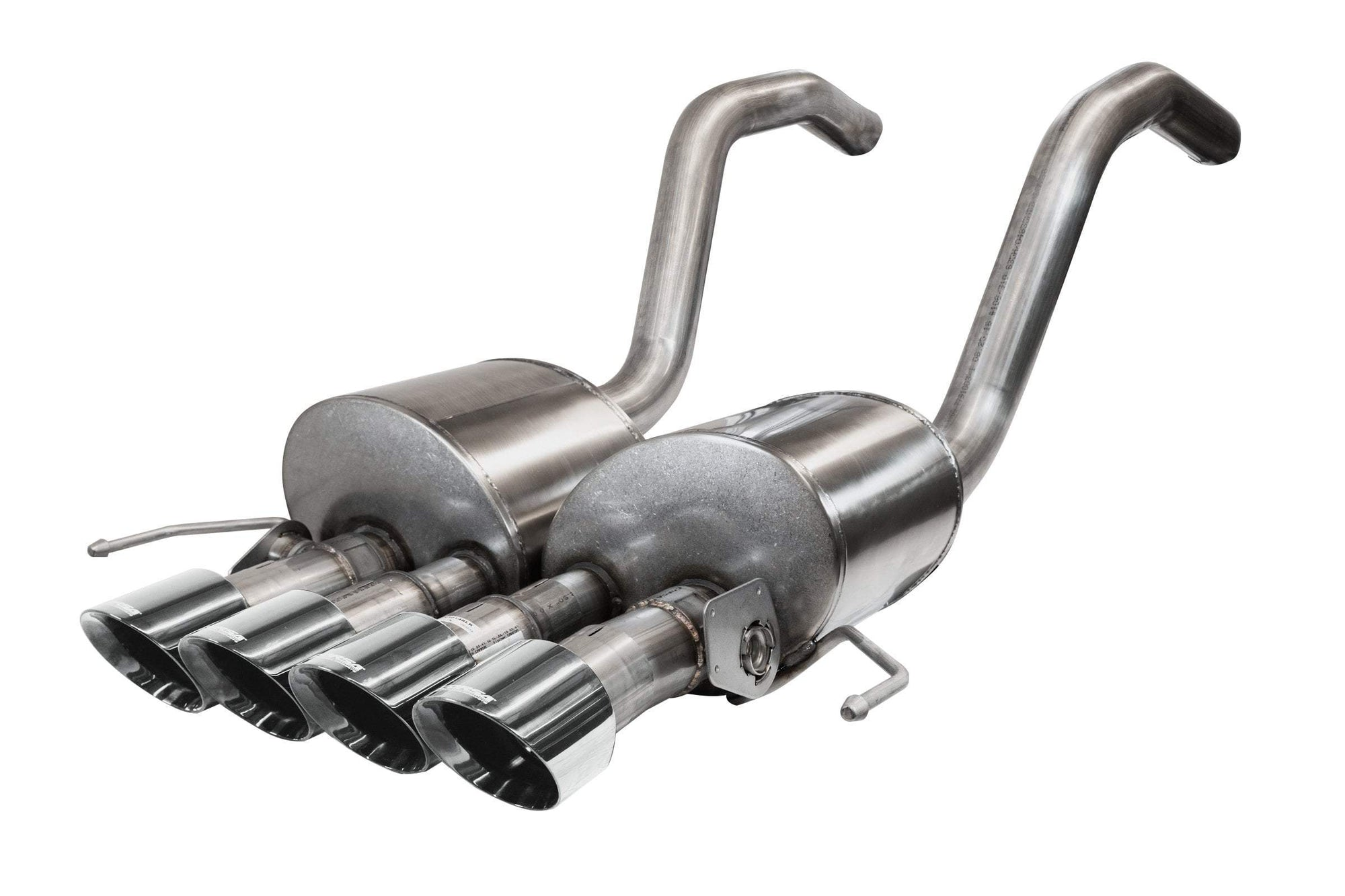 "CORSA PERFORMANCE Active Valve (NPP) Exhaust Polished / Sport to Xtreme / Dual Rear - Quad 4.5in 2015-2019 C7 Chevrolet Corvette 2.75"" Dual Rear Exit Active Valve, Axle-Back, Exhaust System with Quad 4.5"" Tips (14777) Sport to Xtreme Sound Level"