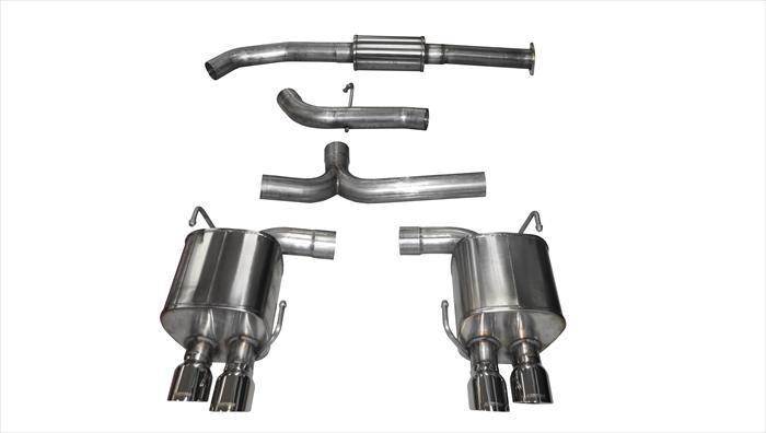 "CORSA PERFORMANCE Cat-Back Exhaust Polished / Sport / Dual Rear - Twin 3.5in 2015-2019 Subaru WRX, STI 2.0L, 2.5L 3.0"" Dual Rear Exit Catback Exhaust System with Twin 3.5"" Tips (14857) Sport Sound Level"