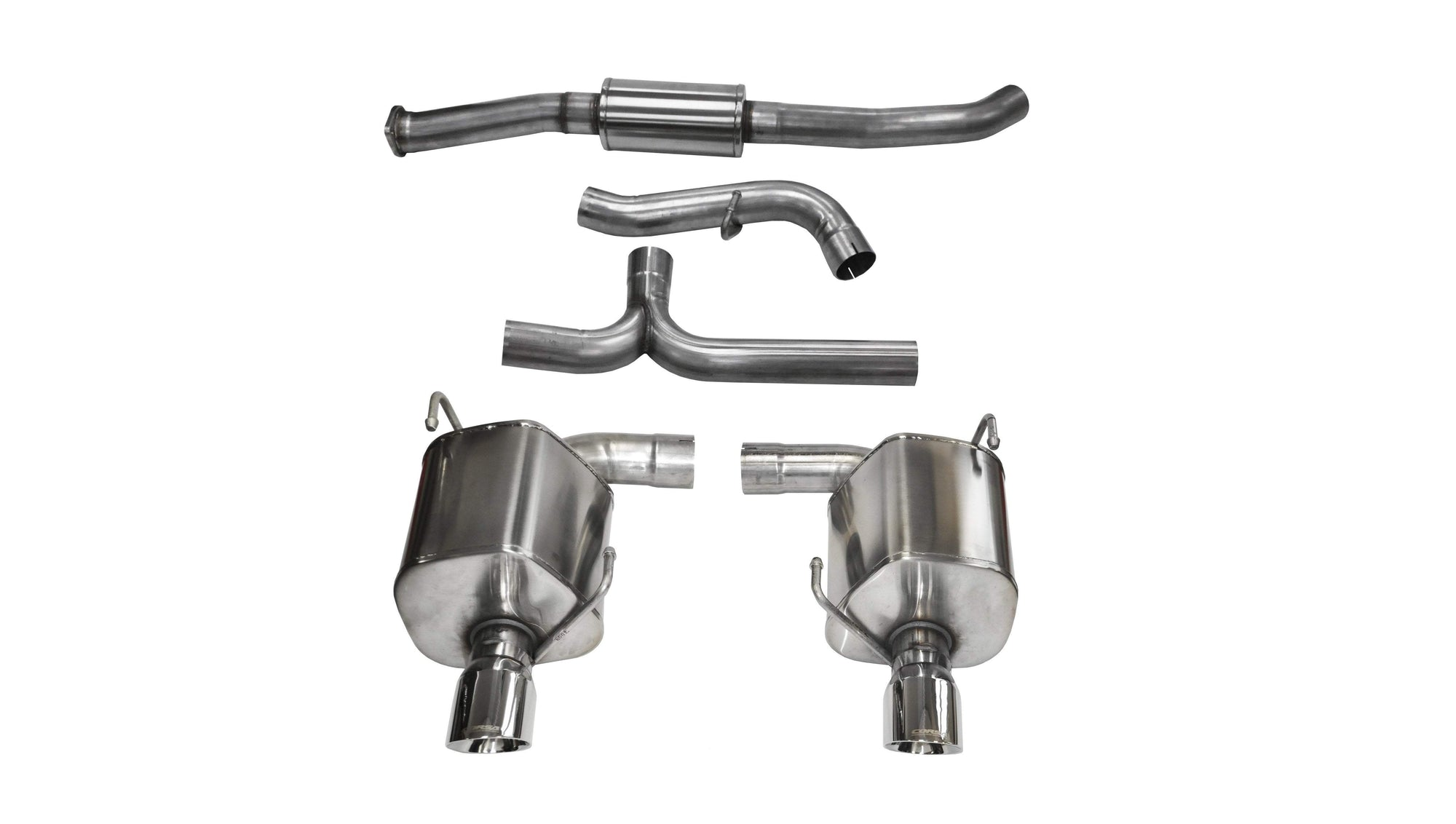 "CORSA PERFORMANCE Cat-Back Exhaust Polished / Sport / Dual Rear - Single 4in 2008-2010 Subaru Impreza WRX 2.5L. 3.0"" Dual Rear Exit Catback Exhaust System with Single 4.0"" Tips (14865) Sport Sound Level"