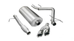 "Corsa Performance 2009-2013 Chevrolet Silverado, GMC Sierra, 4.8L, 5.3L, 6.0L V8 3.0"" Single Side Exit Catback Exhaust System with Twin 4.0"" Tip (14900)"