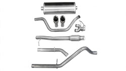 "Corsa Performance 2009 Silverado, Sierra 4.8L, 5.3L, 6.0L V8 3.0"" Dual Rear Exit Catback Exhaust System with Twin 4.0"" Tip (14906)"