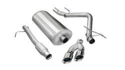 "Corsa Performance 2009-2013 Chevrolet Silverado, GMC Sierra, 4.8L, 5.3L V8, 3.0"" Single Side Exit Catback Exhaust System with Twin 4.0"" Tip (14922)"