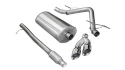 "Corsa Performance 2010-2013 Chevrolet Sivlerado, GMC Sierra, 4.8L, 5.3L, 6.0L V8, 3.0"" Single Side Exit Catback Exhaust System with Twin 4.0"" Tips (14925)"