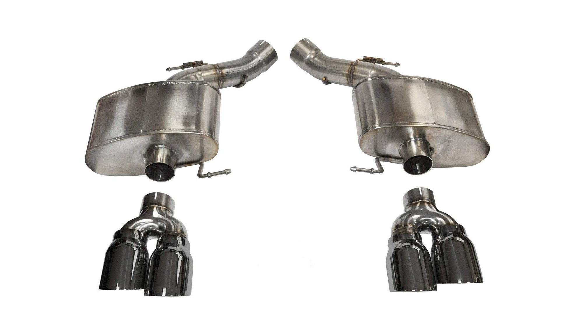 "CORSA PERFORMANCE Axle-Back Exhaust Polished / Sport / Dual Rear - Twin 4.0in 3.0"" Dual Rear Exit Axle-Back Exhaust System with Twin 4.0"" Tips (14929) Sport Sound Level"
