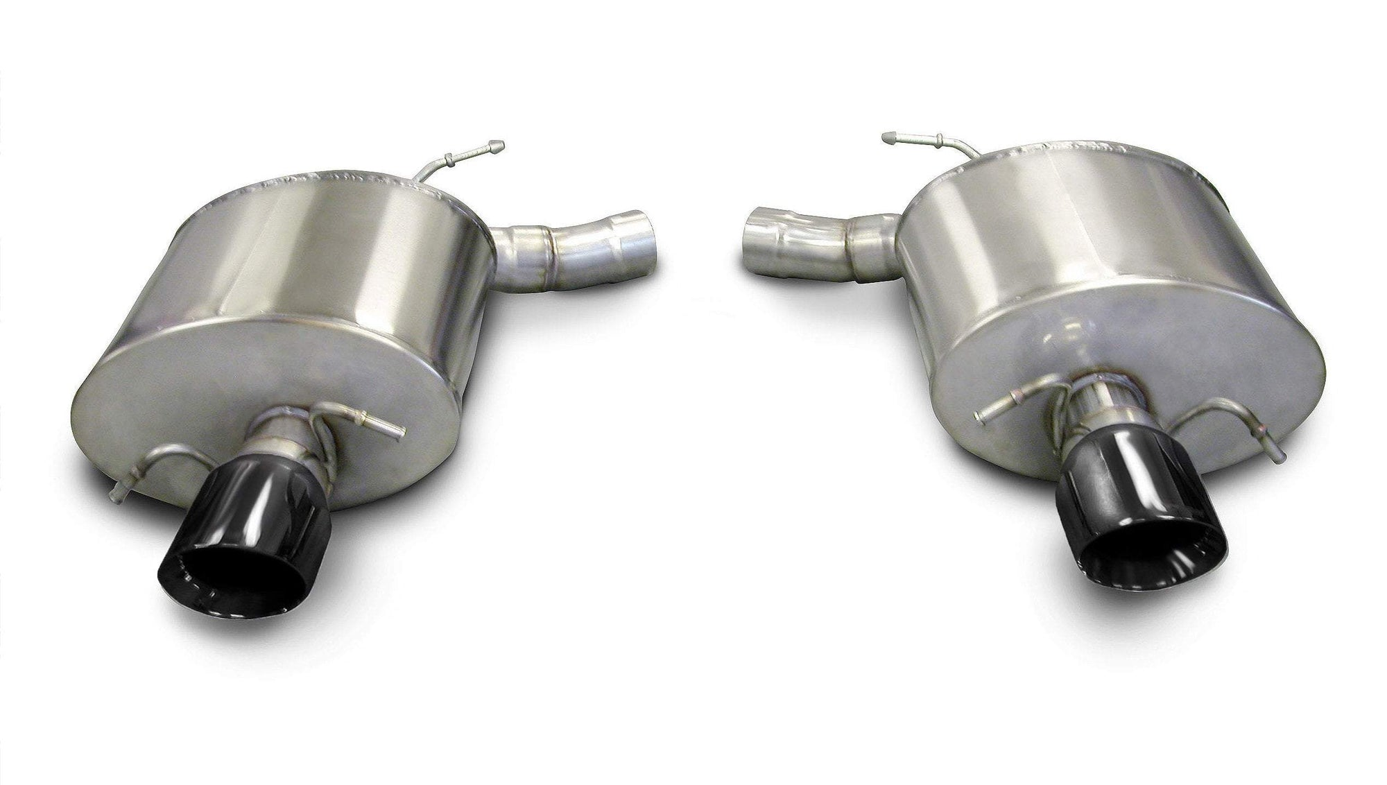 "CORSA PERFORMANCE Axle-Back Exhaust Polished / Sport / Dual Rear - Single 4.0in 2009-2014 Cadillac CTS-V Sedan 6.2L V8 2.5"" Dual Rear Exit Axle-Back Exhaust System with Single 4.0"" Tips (14941) Sport Sound Level"