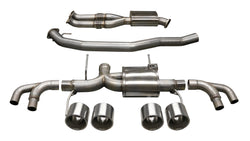 "3.5"" Dual Rear Exit Cat-Back Exhaust System with Twin 5.0"" Titanium Tips (14999) Xtreme Sound Level"