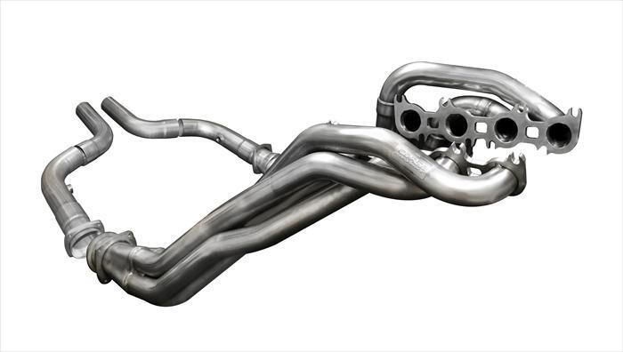 "CORSA PERFORMANCE Headers 2018-2019 Ford Mustang GT Long Tube Headers 1.875"" x 3.0"" Catless / Offroad w/ CORSA Exhaust Connection Pipes (16124) Xtreme+ Sound Level"