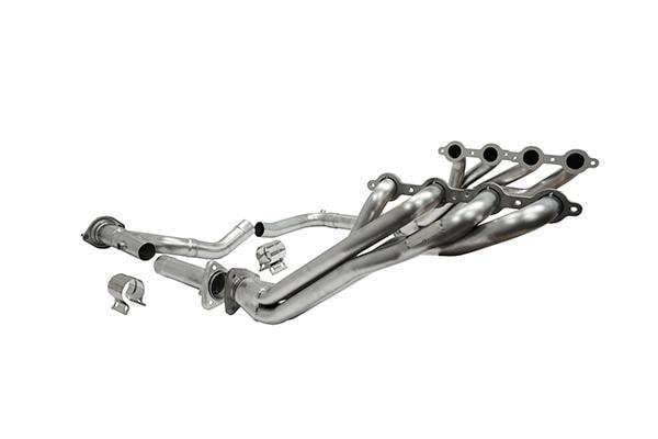 Long Tube Headers w Connectors (16130) Catless 1.875 x 3.0 IN 07-10 Silverado Sierra 6.2L