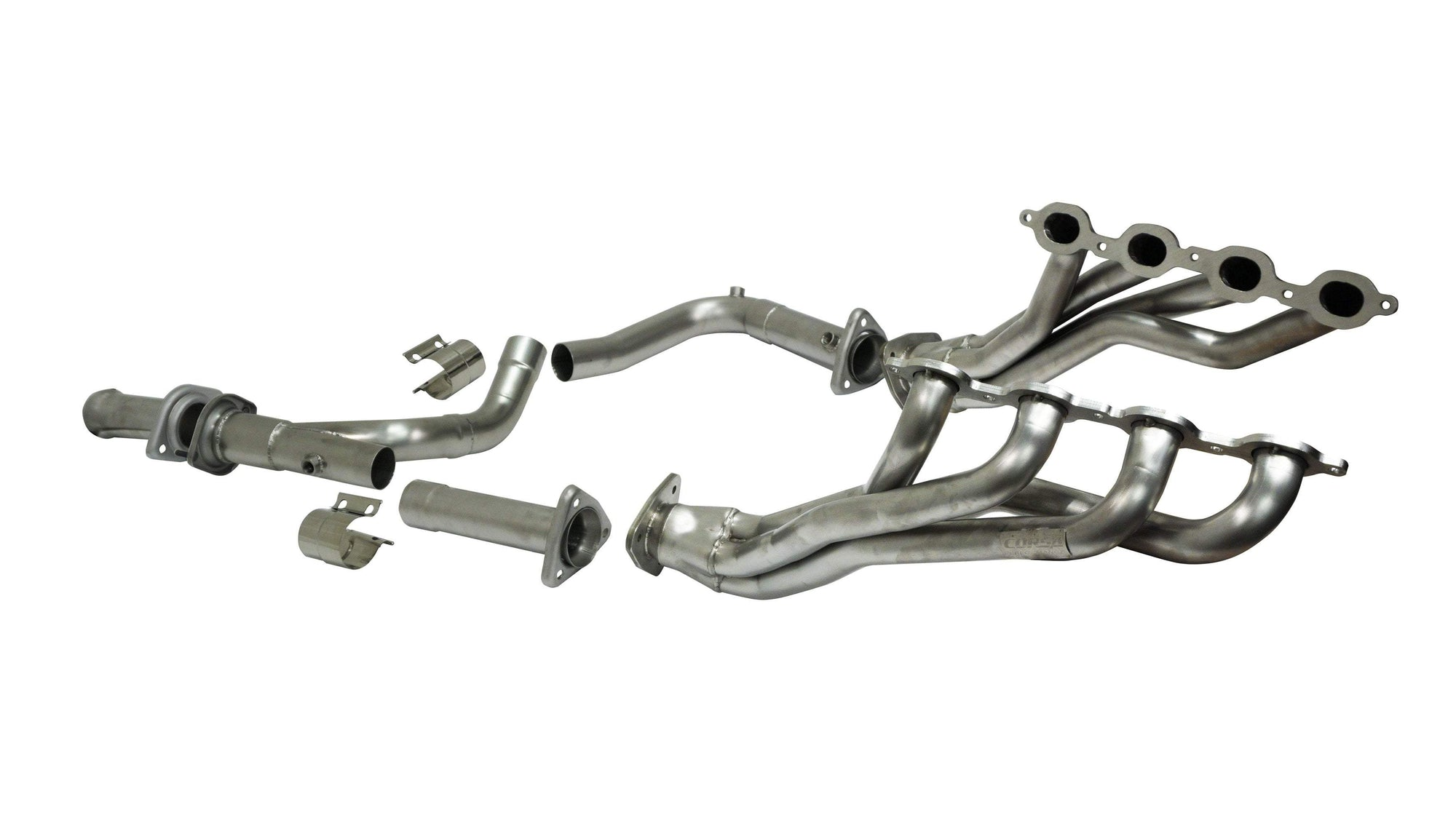 CORSA PERFORMANCE Headers 2014-2018 Chevrolet Silverado, GMC Sierra, 5.3L V8, Long Tube Headers & Catless Connection Pipes (16129)