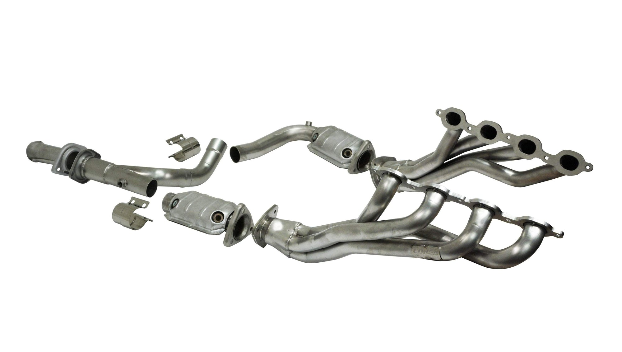"CORSA PERFORMANCE Headers 2014-2018 Chevrolet Silverado, GMC Sierra, 5.3L V8, 1.75"" x 2.5"" Long Tube Headers and Catted Connection Pipes (16329)"