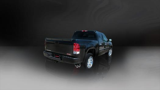 Sport Sound Level (14925) 3.0IN Cat-Back SSE Twin 4IN 10-13 Silverado Sierra 4.8L 5.3L 6.0L 143WB