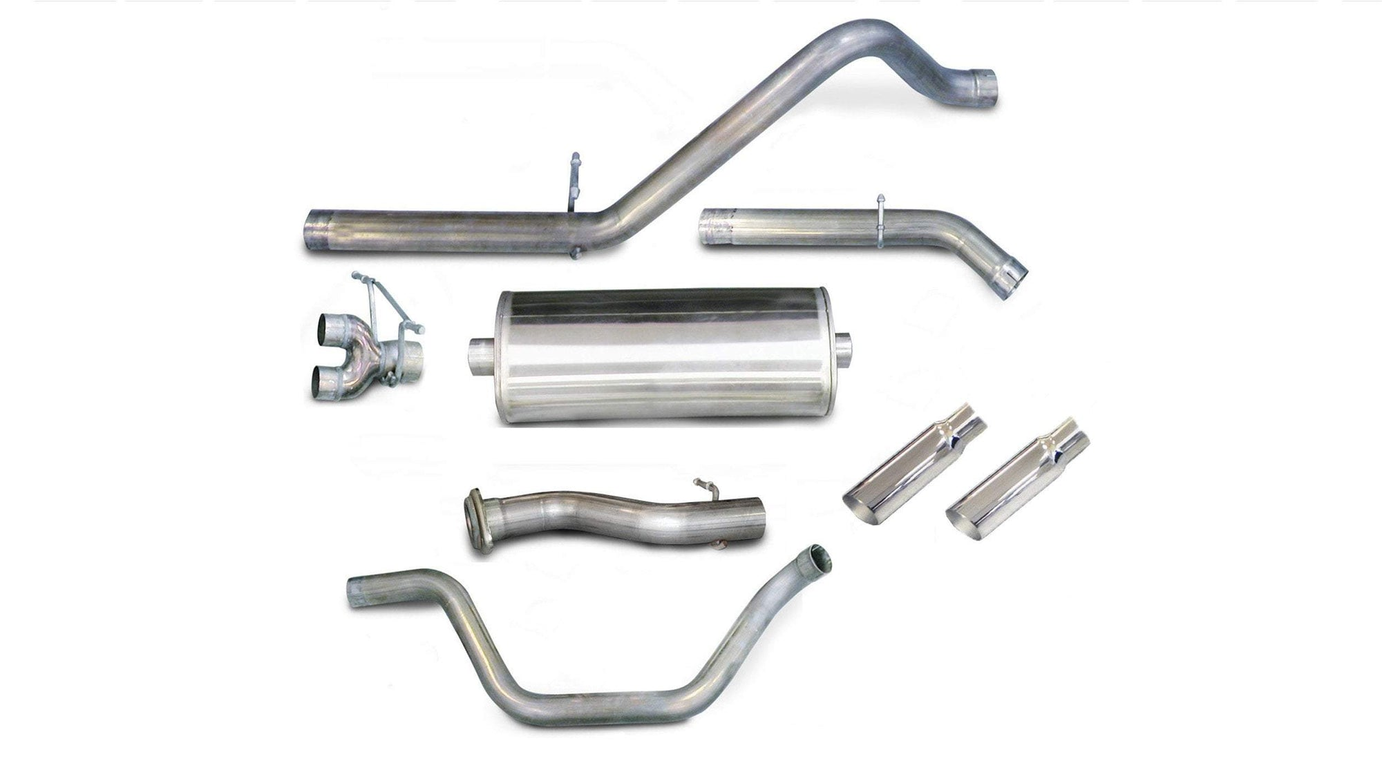 "dB Cat-Back Exhaust Polished / Sport / Dual Rear - Single 4in 2007-2008 Silverado, Sierra 4.8L, 5.3L, 6.0L V8 3.0"" Single Side Exit Catback Exhaust System with 4.0"" Tip (24199) Sport Sound Level"