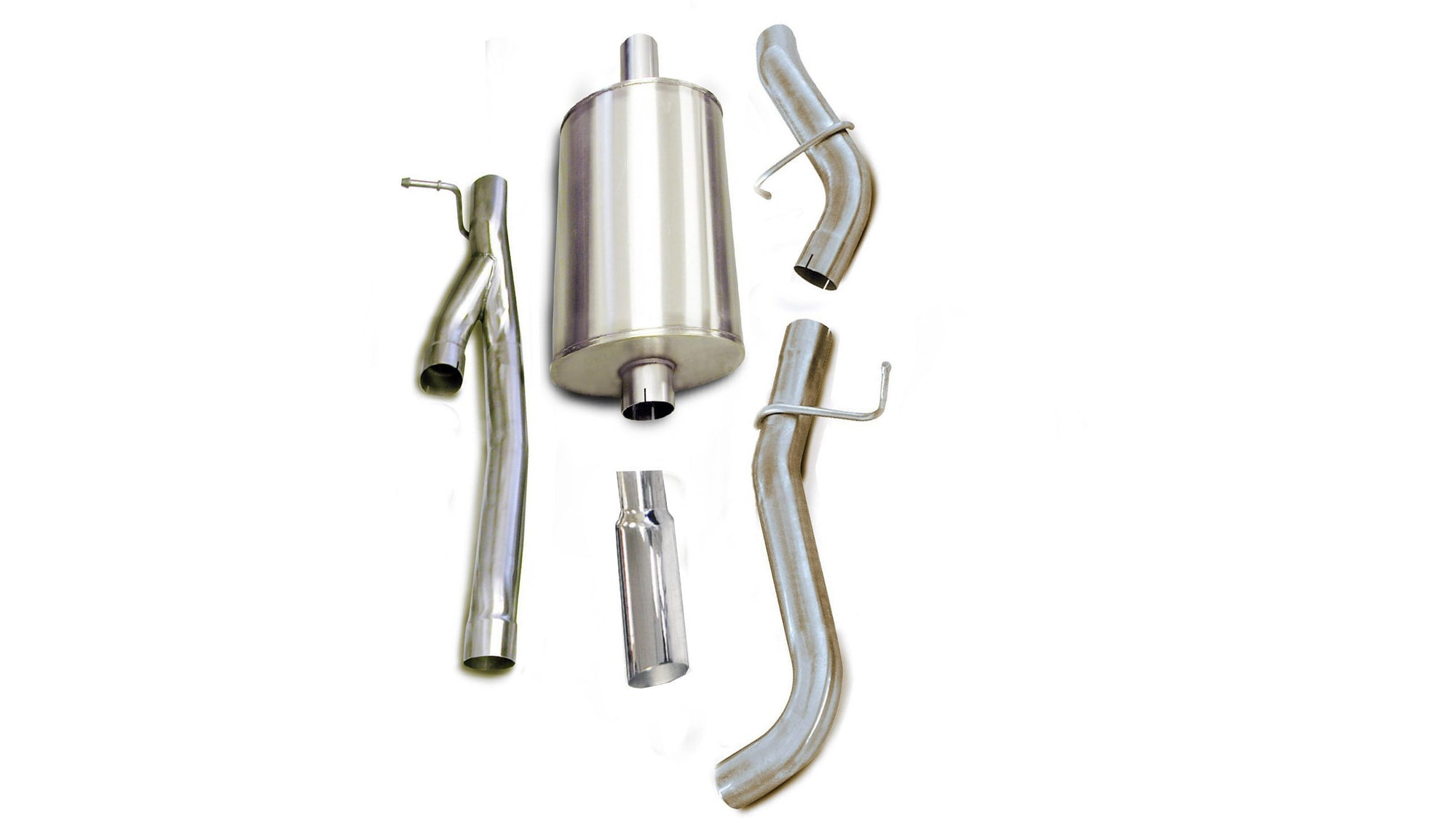 "dB Cat-Back Exhaust Polished / Sport / Single Side - Single 4in 2005-2006 Chevrolet Silverado, GMC Sierra, 6.0L, 6.2L V8, 3.0"" Single Side Exit Catback Exhaust System with 4.0"" Tip (24240) Sport Sound Level"
