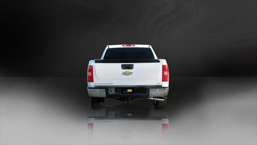 "dB Cat-Back Exhaust Polished / Sport / Single Side - Single 4in 2007-2008 Chevrolet Silverado, GMC Sierra, 4.8L, 5.3L, 6.0L V8 3.0"" Single Side Exit Catback Exhaust System with 4.0"" Tip (24258) Sport Sound Level"