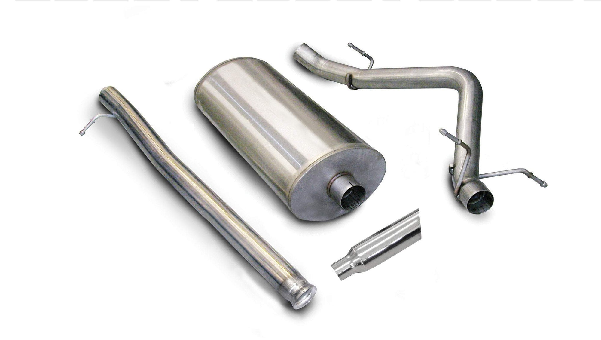 "dB Cat-Back Exhaust Polished / Sport / Single Side - Single 4in 2007-2008 Silverado, Sierra, 4.8L, 5.3L 6.0L V8 3.0"" Single Side Exit Catback Exhaust System with 4.0"" Tip (24259) Sport Sound Level"