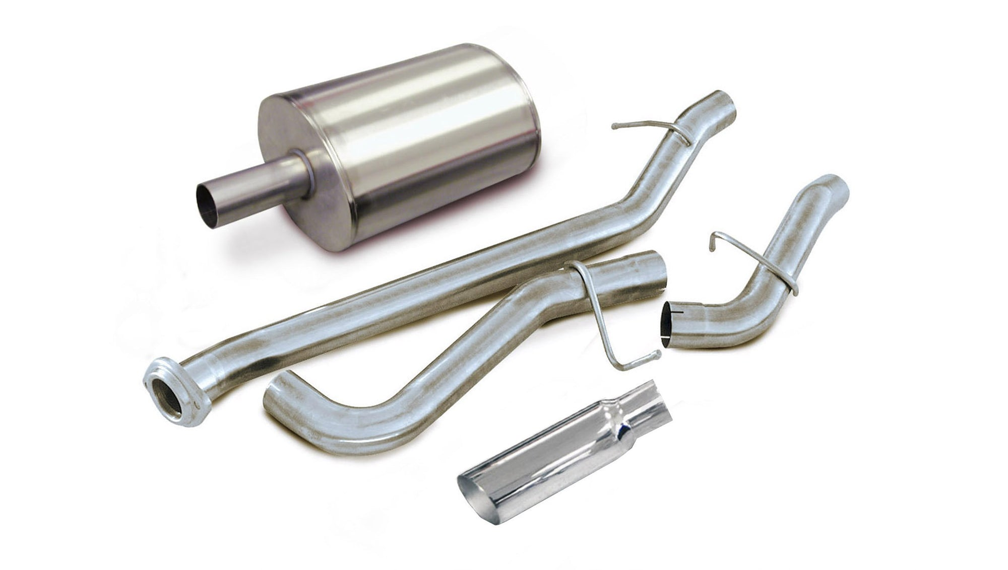 "dB Cat-Back Exhaust Polished / Sport / Single Side - Twin 4.0in 1999-2006 Chevrolet Silverado, GMC Sierra, 4.8L, 5.3L, 6.0L V8 3.0"" Single Side Exit Catback Exhaust System with 4.0"" Tip (24260) Sport Sound Level"