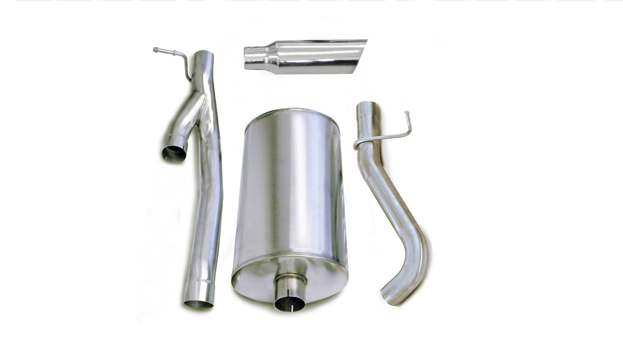 "dB Cat-Back Exhaust Polished / Sport / Single Side - Single 4in 3.0"" Single Side Exit Cat-Back Exhaust System with 4.0"" Tip (24296) Sport Sound Level"