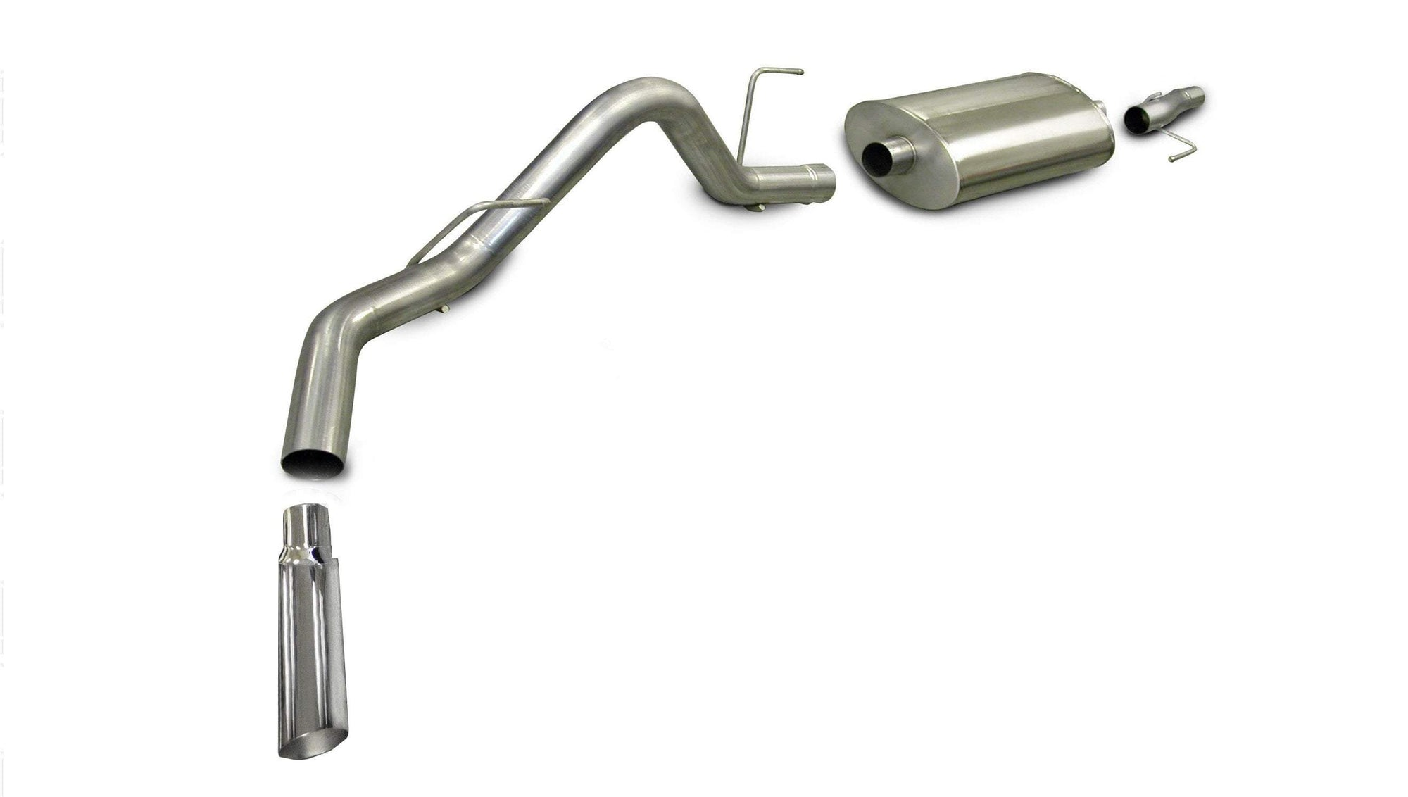 "dB Cat-Back Exhaust Polished / Sport / Single Side - Single 4in Slash Cut 2009-2010 Ford F-150 4.6L & 5.0L V8 3.0"" Single Side Exit Catback Exhaust System with 4.0"" Tip (24310) Sport Sound Level"