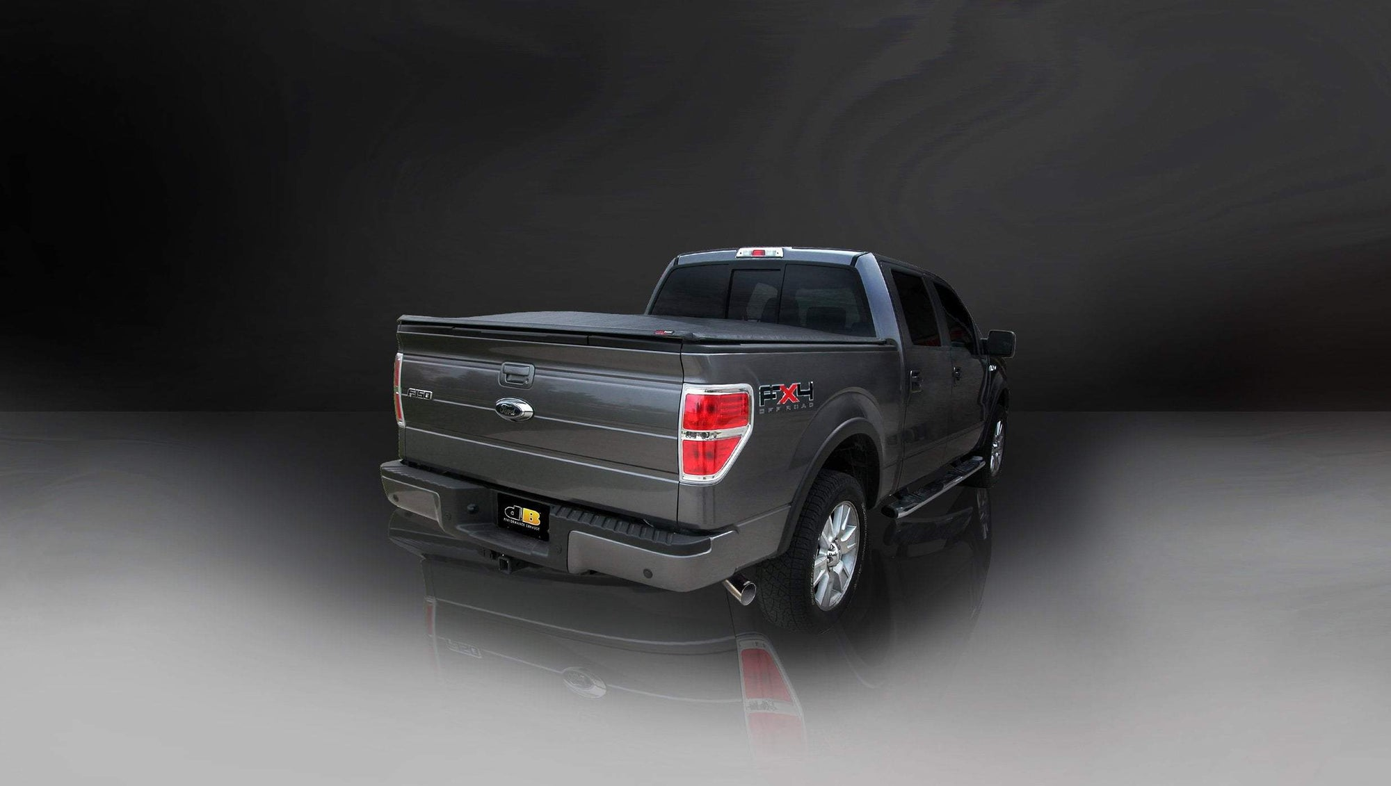"dB Cat-Back Exhaust Polished / Sport / Single Side - Single 4in Slash Cut 2004 Ford F-150 3.0"" Single Side Exit Catback Exhaust System with 4.0"" Tip (24360) Sport Sound Level"