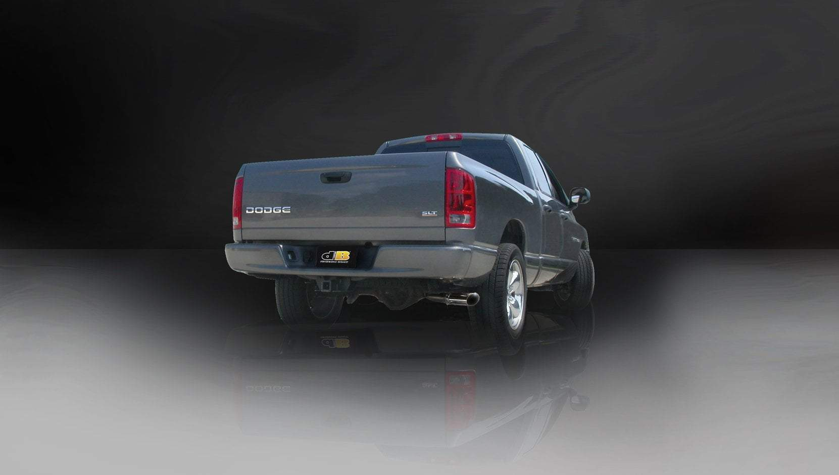 "dB Cat-Back Exhaust Polished / Sport / Single Side - Single 4in Slash Cut 2004-2005 Dodge RAM 1500 4.7L, 5.7L V8, 3.0"" Single Side Exit Catback Exhaust System with 4.0"" Tip (24403) Sport Sound Level"