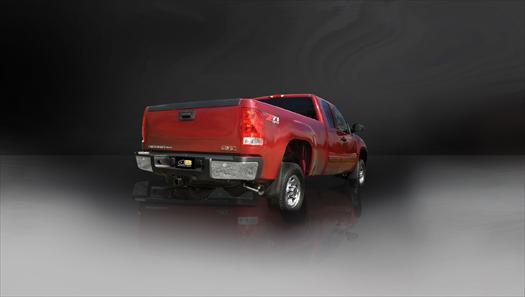 "dB Cat-Back Exhaust Polished / Sport / Single Side - Single 4in 2011-2014 Chevrolet Silverado, GMC Sierra 2500HD, 6.0L V8 3.0"" Single Side Exit Catback Exhaust System with 4.0"" Tip (24790) Sport Sound Level"