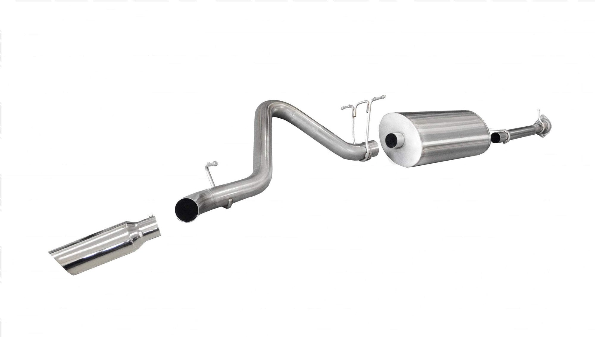 "dB Cat-Back Exhaust Polished / Sport / Single Side - Single 4in 2011-2014 Chevrolet Silverado, GMC Sierra, 2500HD, 3.0"" Catback Exhaust System with 4.0"" Tip (24794) Sport Sound Level"